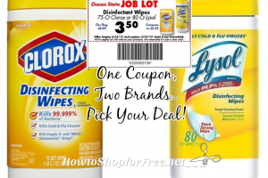 $2.75 Clorox Disinfectant Wipes, 75ct. at #OSJL (3/23-29)