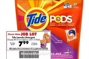 Tide PODS 23-31ct. Under $6 at #OSJL ~ March 23-29