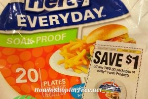 50¢ Hefty 20ct. Soak-Proof Plates! Stock up for holidays!