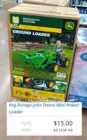 John Deere Kid's Ride-On $29 in Sturbridge! ~As low as $15 elsewhere?
