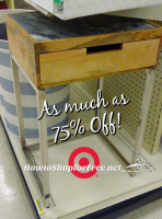 Threshold Wood & Silver Accent Table ~75% OFF!
