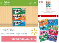 MONEYMAKER Trident Gum Deal at Walmart!