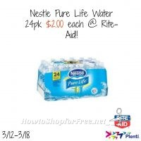 Nestle Pure Life Water 24pk – $2!! @ Rite-Aid!!! (3/12-3/18)
