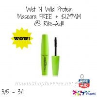 Wet N Wild Protein Mascara – $1.29MM @ Rite-Aid!!! (3/5-3/11)