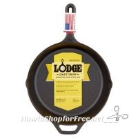 10-1/4″ Lodge Logic Cast Iron Skillet for $13.66 ~WOW! Kitchen Must Have!