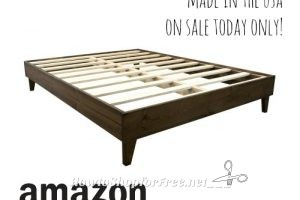 $254-$347 Pine Platform Bed Frames (Made in USA) ~Today Only on Amazon!