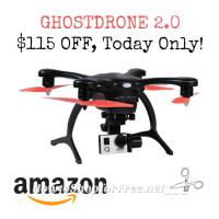 $285 GHOSTDRONE 2.0 Aerial with 4K Sports Camera +FREE Ship! ~Amazon DotD