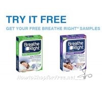 Free Breathe Right Strips Sample ~Comes with Coupon!