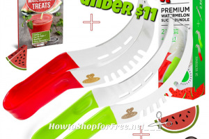 Watermelon Slicer 2pk. Bundle w/ FREE Gifts 42% OFF! ~Only $10.97!