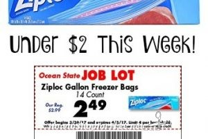 $1.99 Ziploc Bags at OSJL with Stacked Savings!