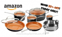 12pc. Gotham Steel Cookware $89.99 +Free Ship, Today Only! (55% OFF)