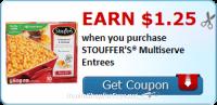 Earn $1.25 wyb STOUFFER'S® Multiserve Entrees ~NEW Ibotta Rebate
