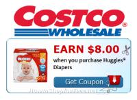Earn $8.00 Cash Back wyb Huggies® Diapers at Costco!