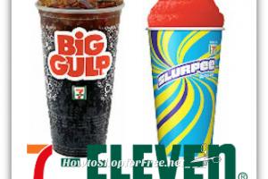 FREE at 7-Eleven ~ Big Gulp or Med. Slurpee! *New*