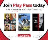 Free Redbox Movie Rentals with Play Pass!