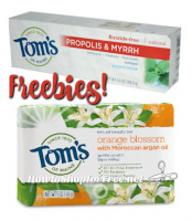 TWO FREE Tom's of Maine Samples ~ Soap & Toothpaste