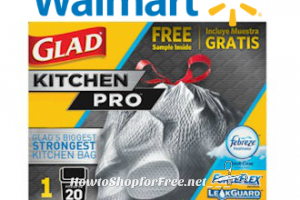 FREE Glad KitchenPro Bags at Walmart with Freeosk!