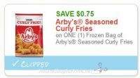 **HOT**NEW Printable Coupon** $0.75 off one Arby's Seasoned Curly Fries