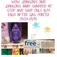 JOHNSON'S AND JOHNSON'S BABY SHAMPOO ONLY $1.33 AFTER GAS POINTS! 03/24-03/30