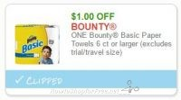 **NEW Printable Coupon** $1.00 off one Bounty