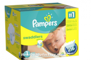 **Amazon Deal** $3.00 coupons! Pampers Swaddlers Size 1 Diapers 216 Count Only $.08 per Diaper! Other deals available!