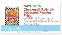 $0.75 off one Checkers Rally's Seasoned Famous Fries