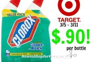 Clorox Toilet Bowl Cleaner only $.90 per bottle at Target!