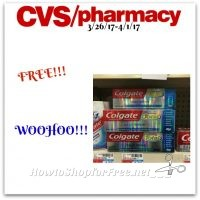 WOWZA! Free Colgate Total Toothpaste at CVS (3/26/17-4/1/17)