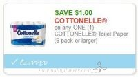 **NEW Printable Coupon** $1.00 off one Cottonelle Toilet Paper
