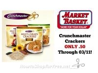Crunchmaster Crackers ONLY .50 at Market Basket Through 03/11!