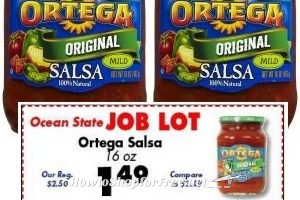 99¢ Ortega Salsa at Job Lot, Limit of 6 ~ Stock Up! (3/23-29)