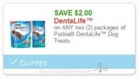 **NEW Printable Coupon** $2.00 off any 2 DentaLife