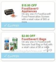 Prepare to Print RARE FoodSaver Savings, #ICYMI