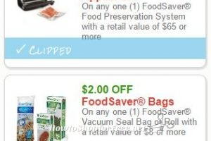 Prepare to Print RARE FoodSaver Savings, #ICYMI