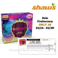 Dole Fruitocracy ONLY .88 at Shaw's 03/24 ~ 03/30!!
