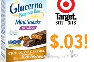 STOCK UP! Glucerna Nutrition Bars only $.03 at Target! 3/12 – 3/18