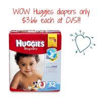 HUGGIES JUMBO PK at CVS FOR ONLY $3.66!!! 03/26-04/01