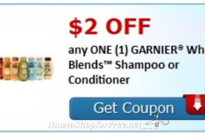 Hot New Coupon!! ***$2/1 Garnier Whole Blends Shampoo/Conditioner