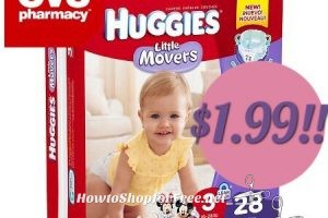 Wow! Huggies Diapers only $1.99 at CVS (3/26/17-4/1/17)