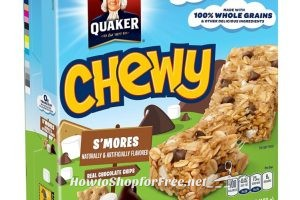 **Amazon Deal** Wow! Quaker Chewy Granola Bar, S'mores, 8-Count Bars (Pack of 12) Only $1.49 each!
