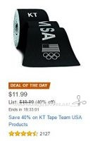 **Amazon Deal of the Day** Save 40% on KT Tape Team USA Products!