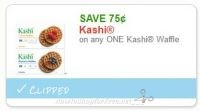 $0.75 off one Kashi Waffles ~Hot Doubler, ICYMI!