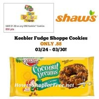 Keebler Fudge Shoppe Cookies ONLY .88 at Shaw's 03/24 ~ 03/30!