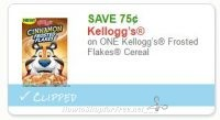 $0.75/1 Kelloggs Frosted Flakes Cereal ~HOT Doubler, #ICYMI