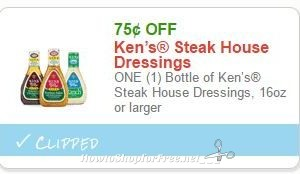 Save $0.75 purchase of ANY ONE (1) bottle of Ken's Simply Vinaigrette 16oz
