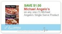 **NEW Printable Coupon** $1.00 off one Michael Angelo's