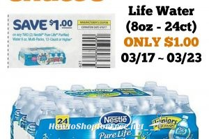 Nestle Pure Life Water (8oz – 24ct) ONLY $1.00 at Shaw's 03/17 ~ 03/23!