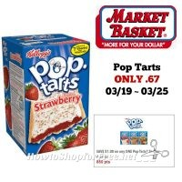 Kellogg's Pop Tarts ONLY 67¢ at Market Basket 03/19 ~ 03/25!!