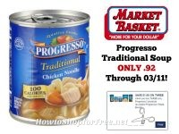 Progresso Traditional Soup ONLY .92 at Market Basket Through 03/11!