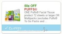 **NEW Printable Coupon** $0.50 off one Puffs